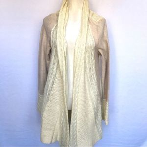 Anthropologie Knitted and Knotted Open Cardigan